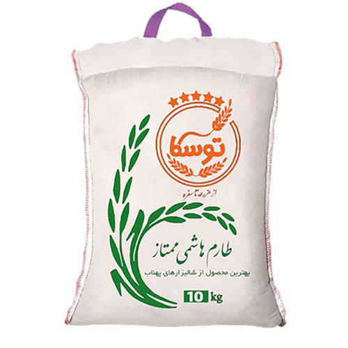 سفارش برنج طارم هاشمی با بسته بندی 10 کیلوگرمی